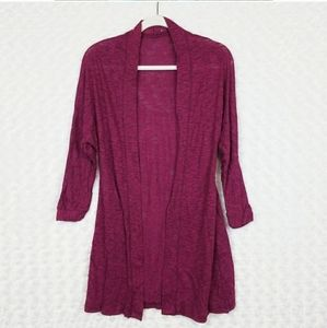 Sweaters - Rose Pink Open Front Cardigan